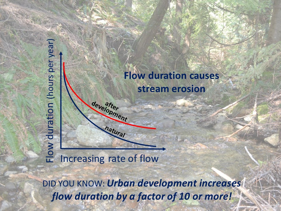 """If the desired outcome is to limit stream erosion, prevent flooding and improve water quality, then a guiding principle must be to replicate the flow-duration pattern to mimic the annual Water Balance."" - Jim Dumont"