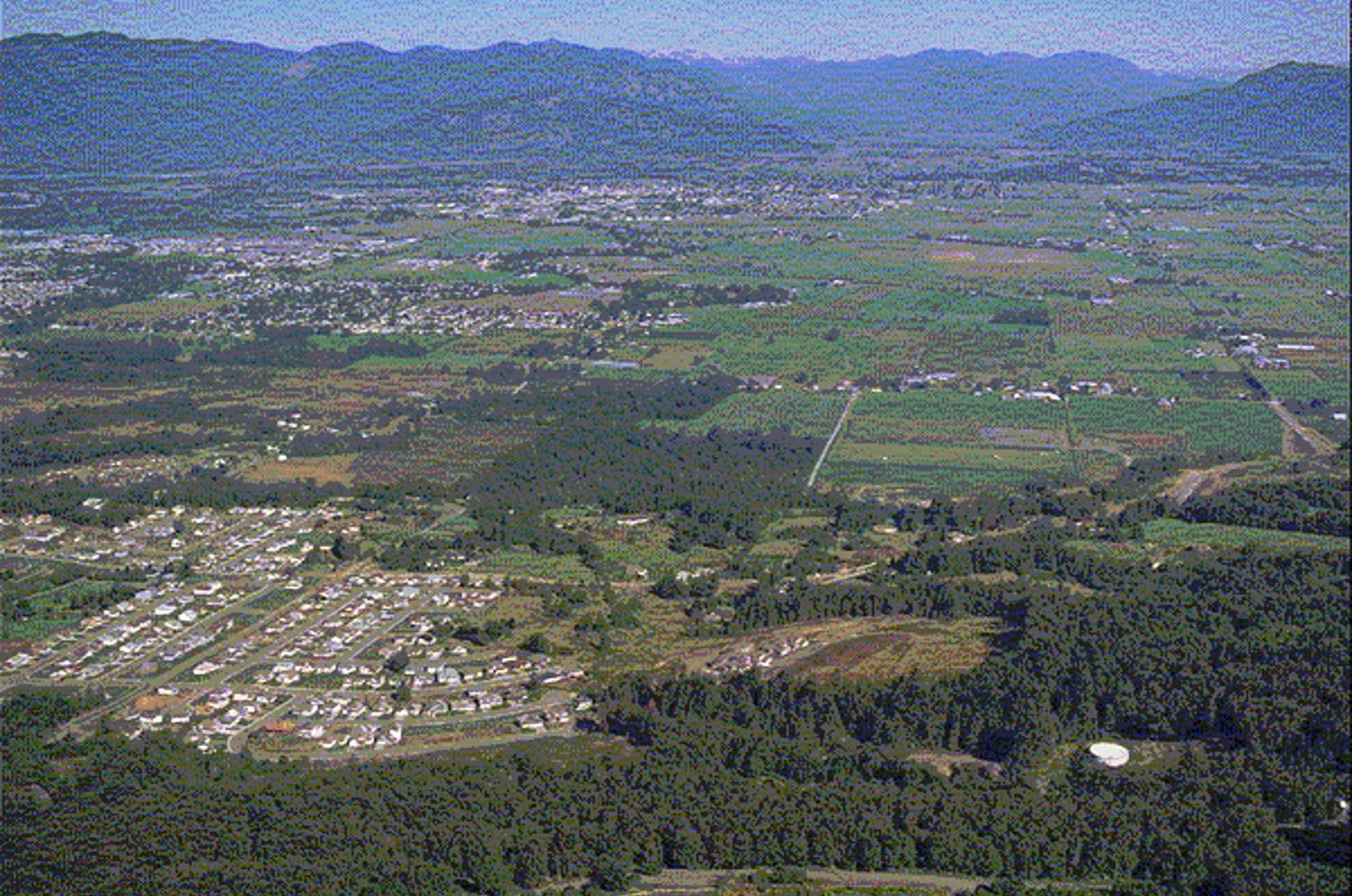 Looking down at the lowlands in the City of Chilliwack